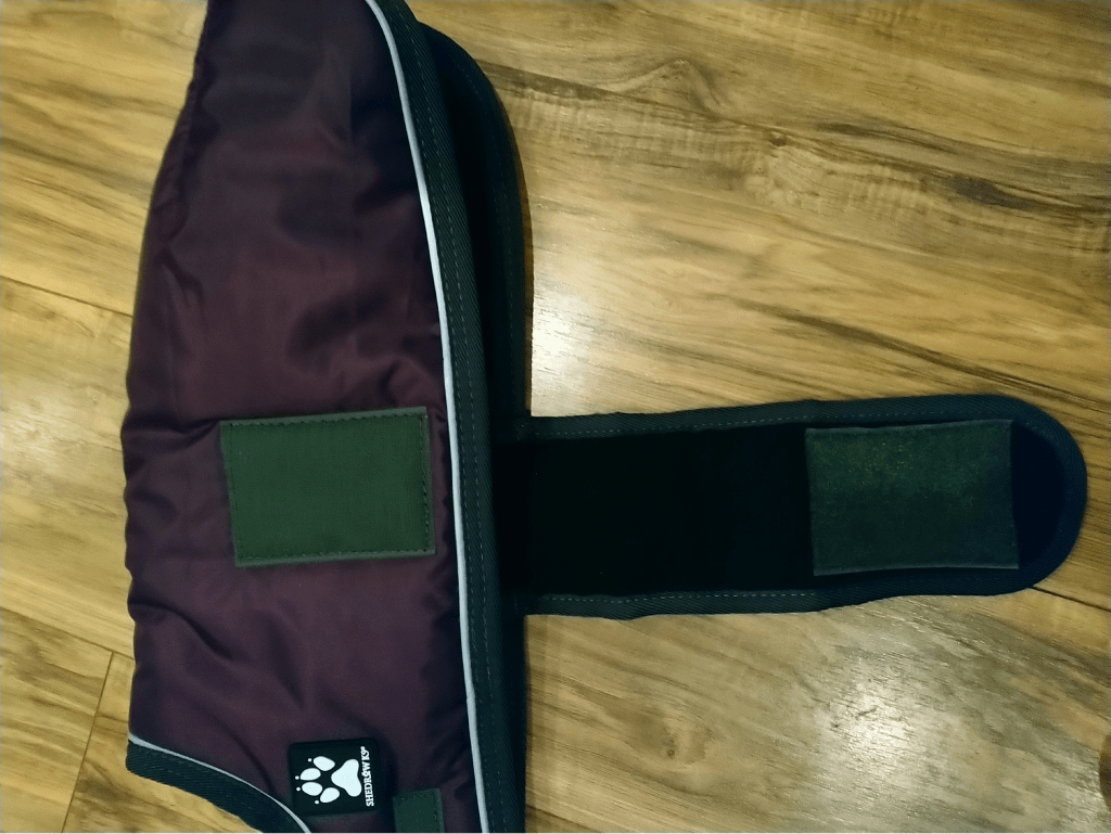 Shedrow K9 Tundra Winter Dog Coat with belly strap open