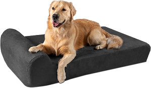 Best Made In USA Dog Beds for Large Dogs - Big Barker Dog bed with dog on top