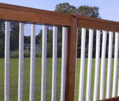 Dog Patio Ideas safety netting