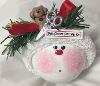 Personalized Dog Ornaments for the dog groomer