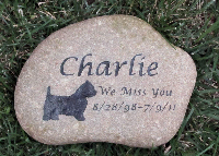Memorial Ideas - Stone with name and dates - Happyoodles.com