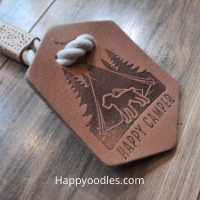 How to make your dog Happy - Happyoodles.com Tall Tails Happy Leather Tug toys